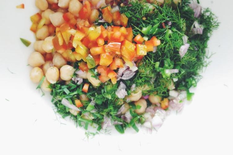 Chickpea Salad with Herbs & Lime Dressing