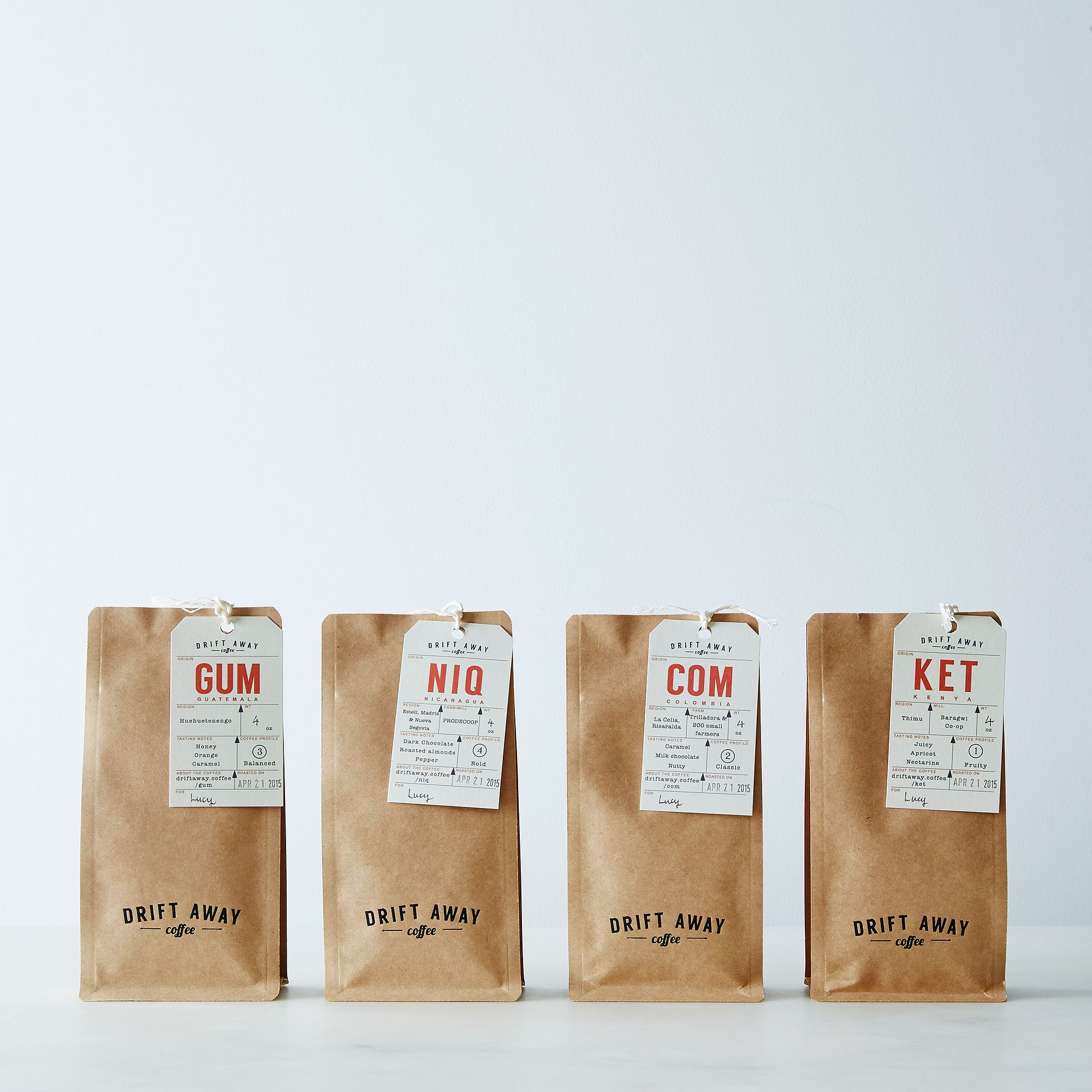 Driftaway Coffee Driftaway Single Origin Coffee Sampler (Set of 4)