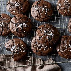 Salty Black Licorice Brownie Cookies