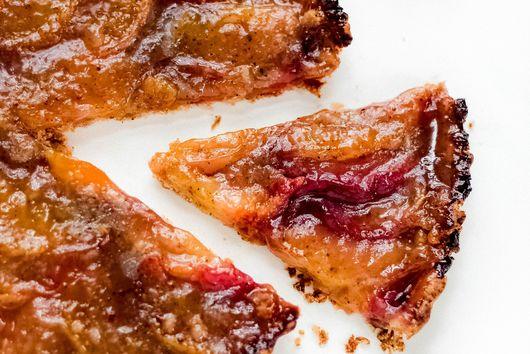 Spiced Miso Peach Tart