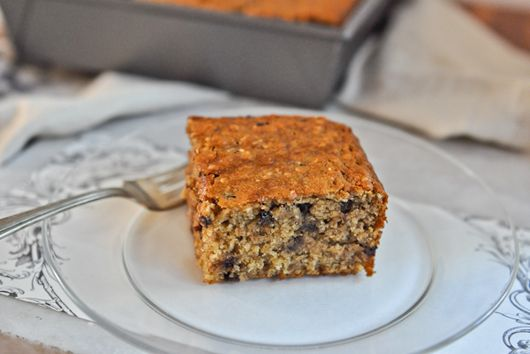 Oatmeal Banana Chocolate Chip Cake {Vegan}