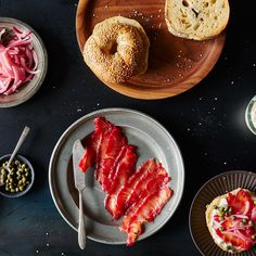 A Better Bagel Topping: Beet-Cured Salmon