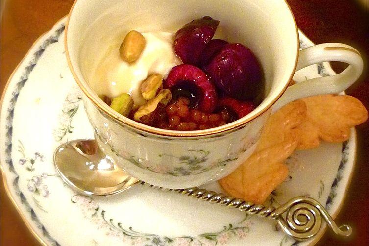 Pomegranate Couscous with Honey Greek Yogurt, Cherries, and Pistachios ...