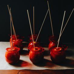 "Candy Apples, Inspired by Wayne Thiebaud's ""Candy Apples"""