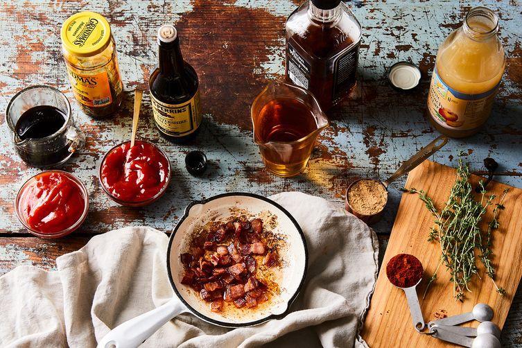 Peach, Bacon & Bourbon BBQ Sauce