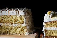 Coconut Caramel Sheet Cake Layer Cake