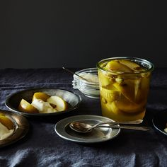 Apples in Cardamom-Lime Syrup