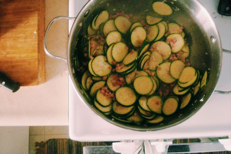 Orecchiette with Zucchini andPancetta