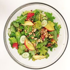 Nectarine and Watercress Salad with a Fig-Strawberry Vinaigrette
