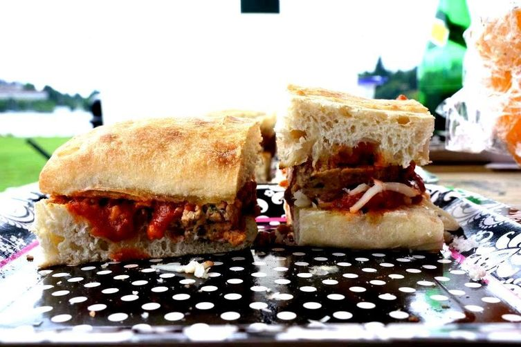 Meatloaf Sliders Italian Style