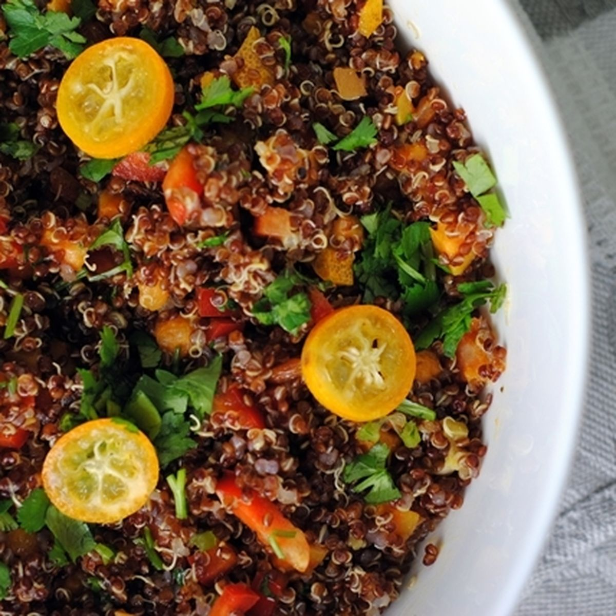 Zesty Red Quinoa Salad