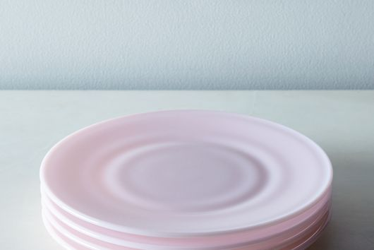 [OLD] Pink Glass Dinner & Cake Plates (Set of 4)