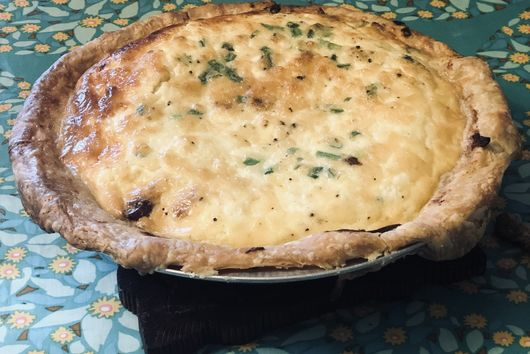 Date and Pancetta Quiche