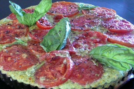 FRESH HEIRLOOM TOMATO TART W/ HERBS