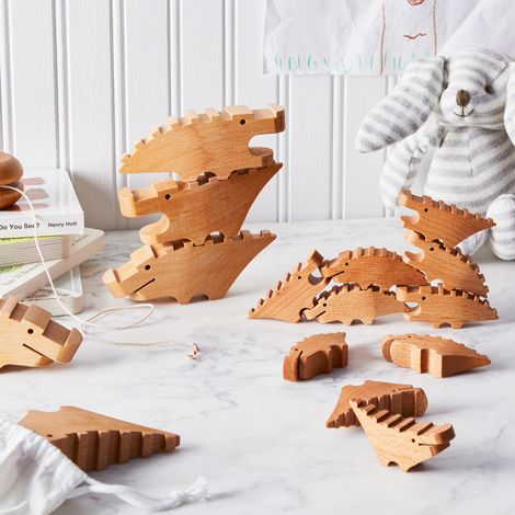 Wooden Crocodile Toy Set