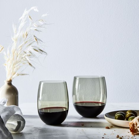 Hand Blown Japanese Round Stemless Wine Glasses