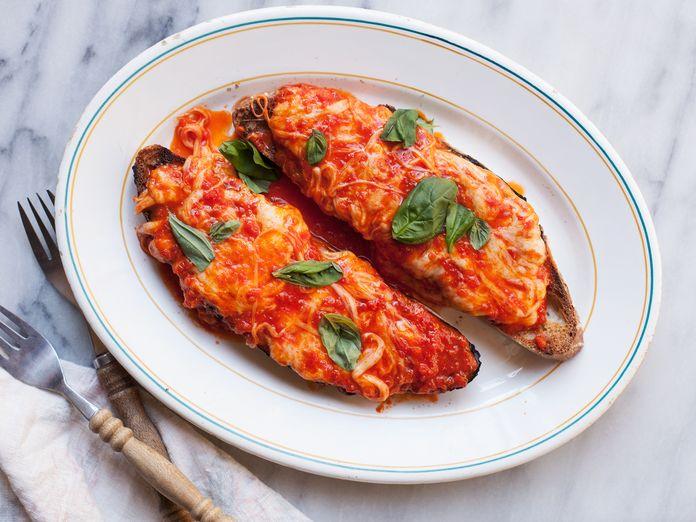 The Cheesy, Lazy, Pizza-ish Toast I Make When I'm Super Cranky