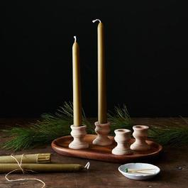 Wooden Candle Holders (Set of 4)