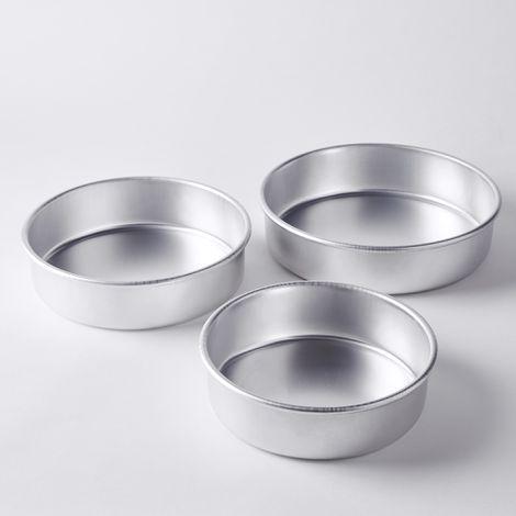 Nordic Ware Aluminum Celebration Cake Pan (Set of 3)