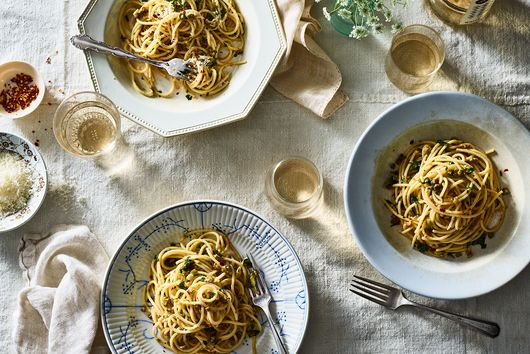 Pantry Pasta With Anchovies, Olives & Capers
