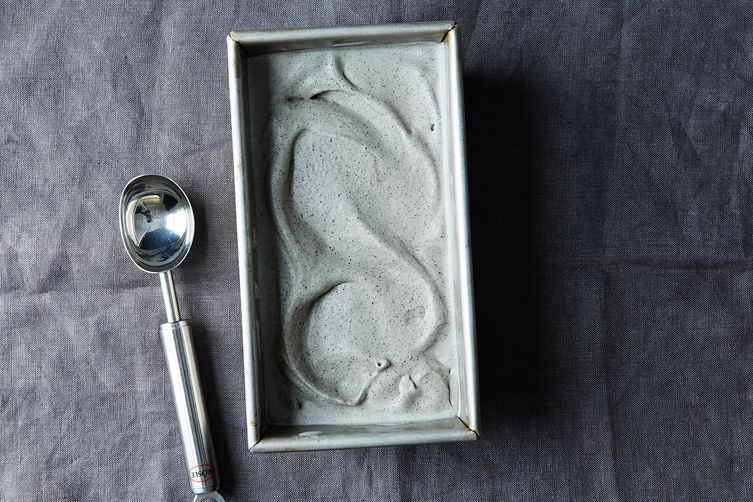Black Sesame Seed Ice Cream