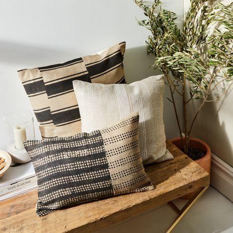 Hand-Blocked Artisan Throw Pillows