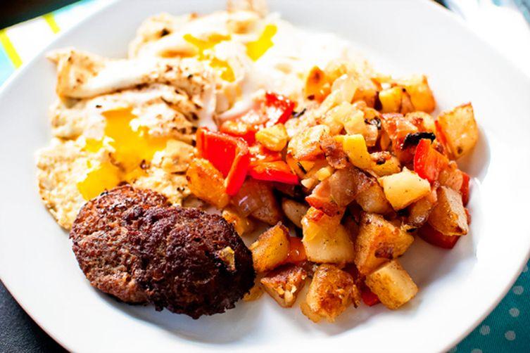 Sweet Red Pepper & Potato Hash