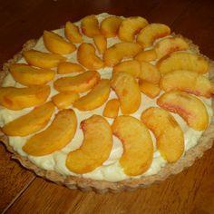 Peaches 'n Honey Cream Tart