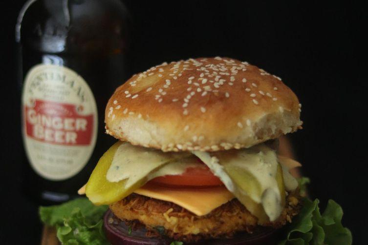 Crispy Grilled Paneer Veggie Burger