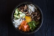 Mixed Rice with Vegetables & Beef (Bibimbap)