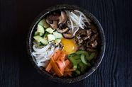 Mixed Rice with Vegetables & Beef (Bibimbap)