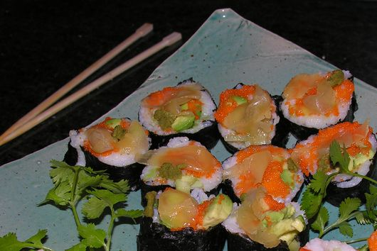 O's organic almost vegetarian sushi