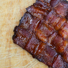 Coffee & Maple Syrup-Glazed Bacon Weaves for BLTs