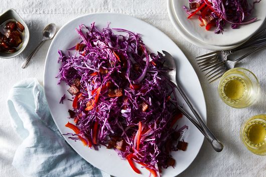 Warm Bacon Vinaigrette Takes This Slaw to the Next Level