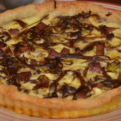Caramelized Shallot, Cabbage and Tasso Tart
