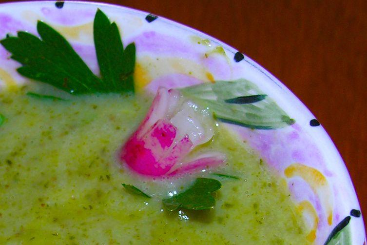 Rustic radish soup