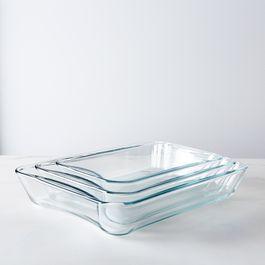 Borosilicate Glass 3-Piece Baking Dish Set