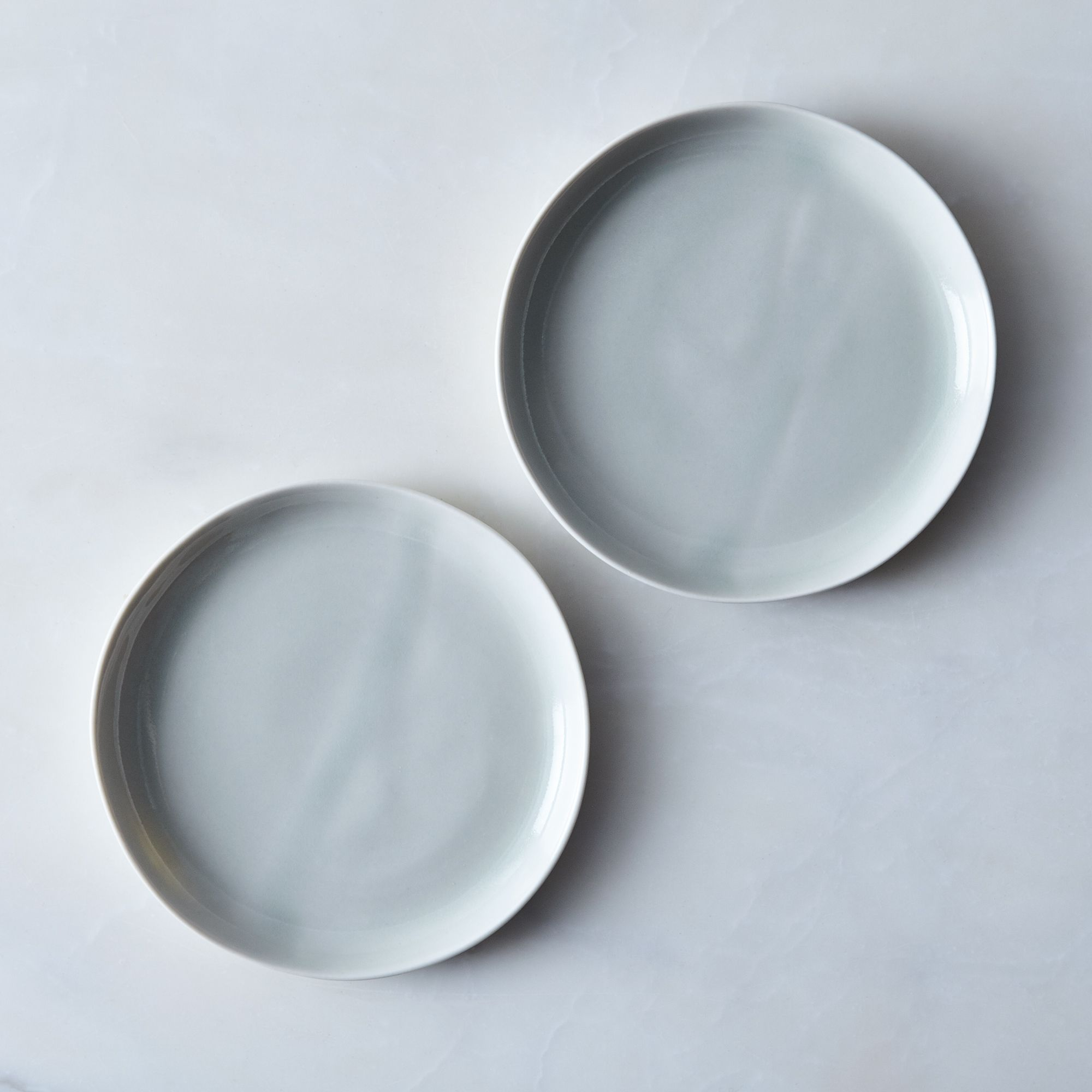 Watercolor Salad & Cake Plates (set Of 4) Celadon, Set Of 2