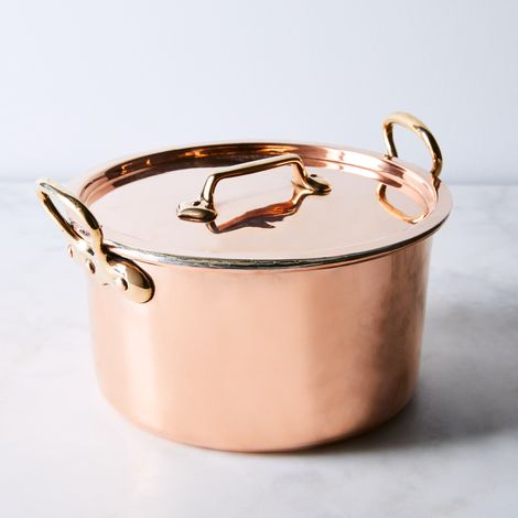 Vintage Copper French Baking Dish & Lid, Late 19th Century