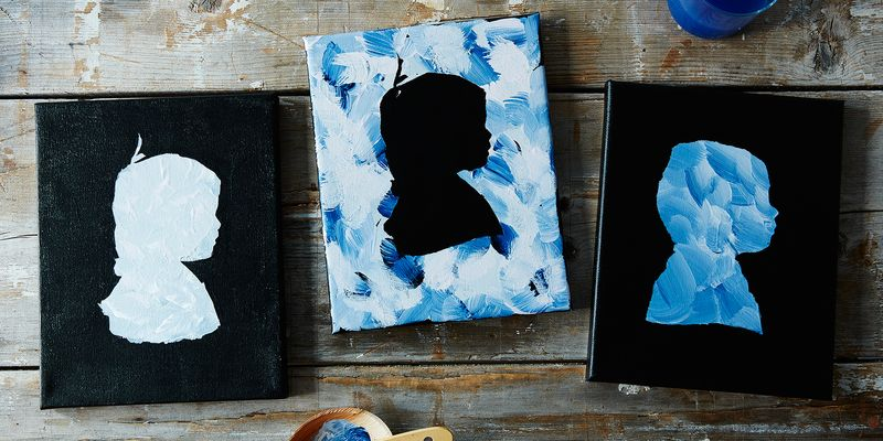 DIY silhouettes for Mother's Day or Father's Day