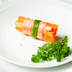 Carrots Wrapped in Bacon
