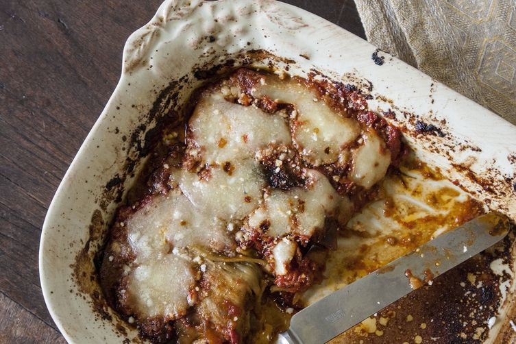 lighter version of eggplant parmigiana! Buttery layers of eggplant ...