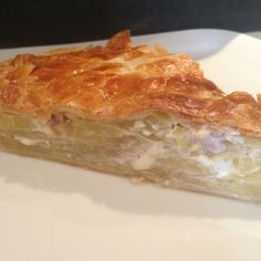 French potato and lardon pie