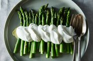 Alice B. Toklas' Asparagus in Salt & Pepper Whipped Cream
