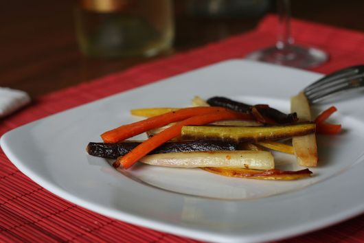 Honey Garlic Roasted Carrots