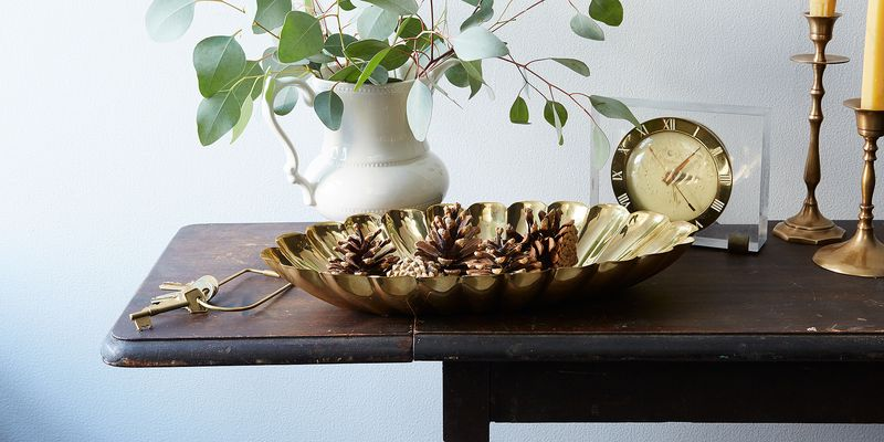 Shine bright like a... scalloped brass bowl from our first line of home decor.