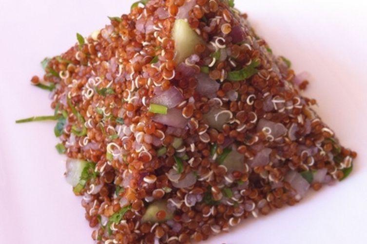 Red quinoa tabbouleh