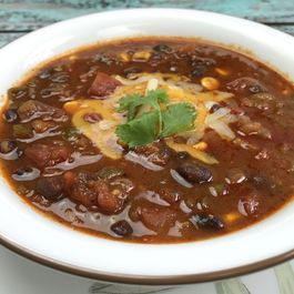 Weeknight Black Bean Chili in Instant Pot
