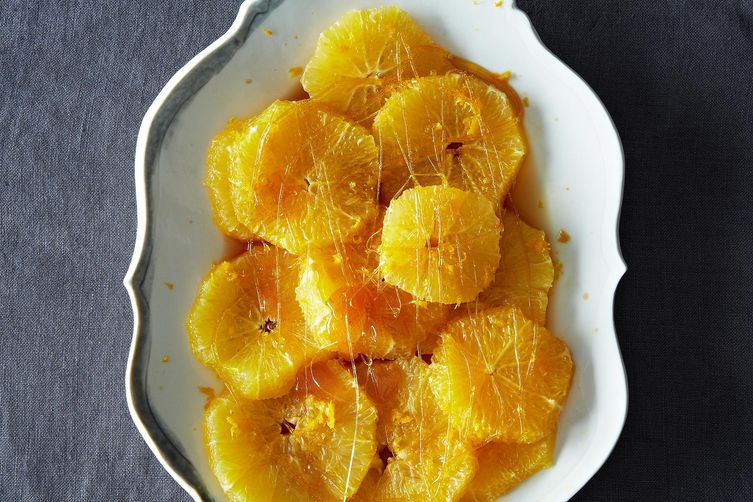Chilled Oranges in Rum-Caramel Syrup