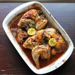 Mom's Greek Roasted Chicken